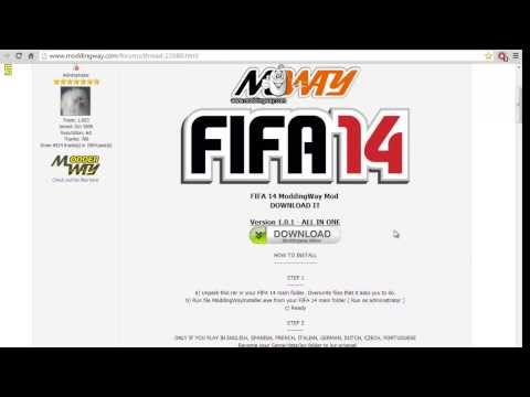 Как установить патч ModdingWay для FIFA 14
