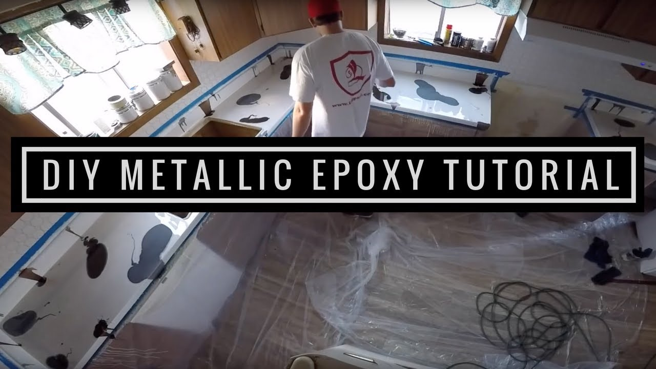 Metallic Epoxy Countertop Coating Tutorial Youtube