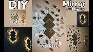 Dollar Tree DIY Spring Mirror LED Wall Decor 2019