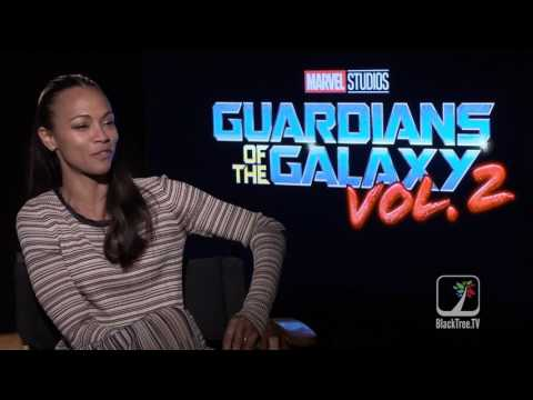 Zoe Saldana Interview Guardians of the Galaxy Vol  2