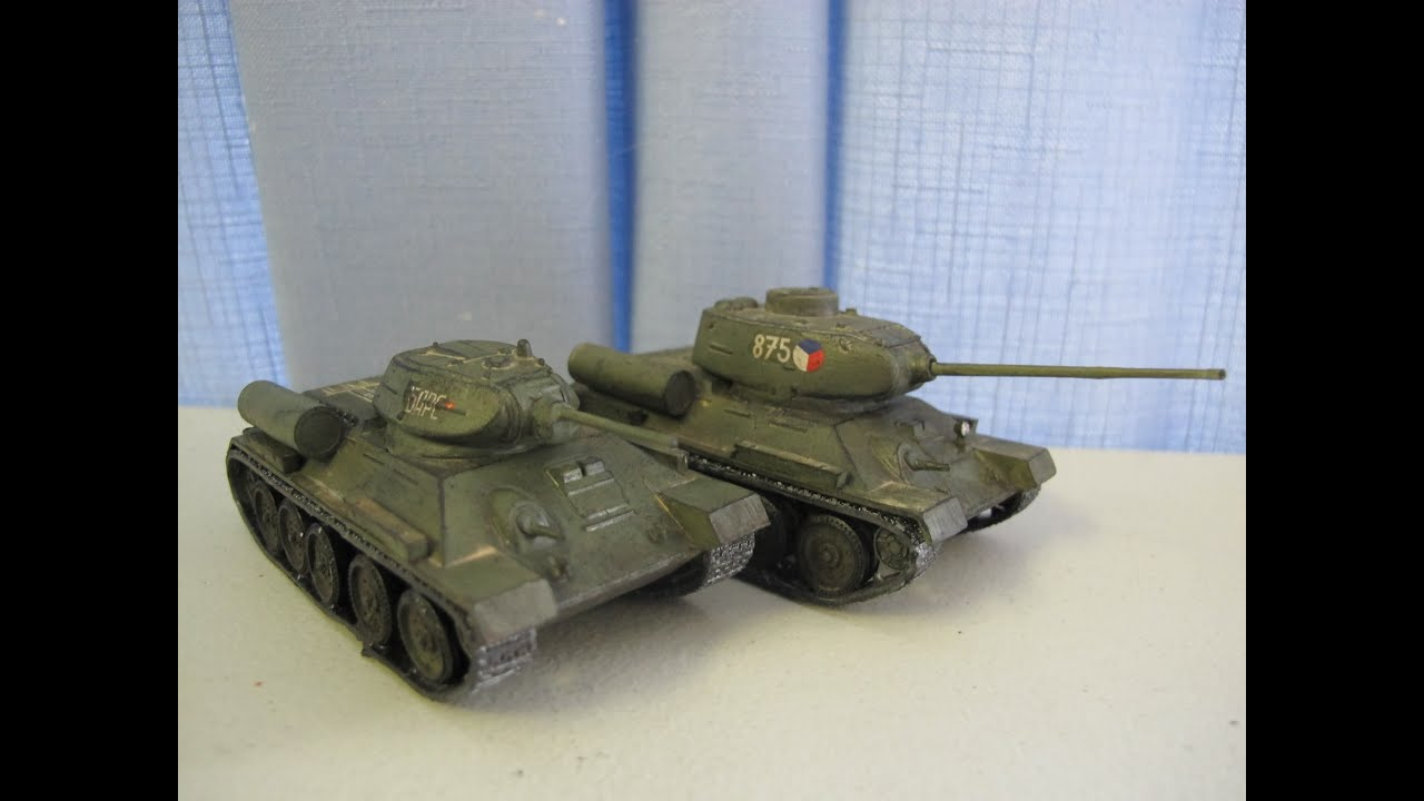 Airfix 1:76 A-34 T34/85 Medium Tank build review - YouTube