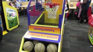 Chuck E Cheese Birthday Basketball Fun