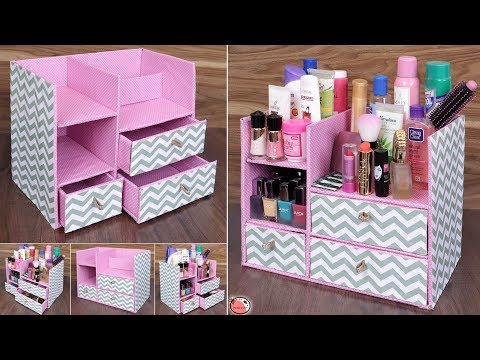 DIY Room Organizer !! Space Saving - Best Out Of Waste Idea