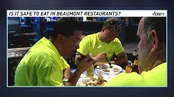 Verify: When is it safe to eat and drink in Beaumont restaurants?