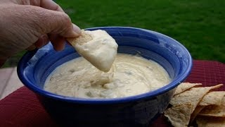 How To Make White Cheese Dip - A Creamy Cheesy Appetizer By Rockin Robin