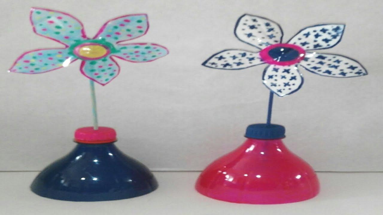 Flor con botellas de plastico recicladas diy flower with - Flores de plastico ...