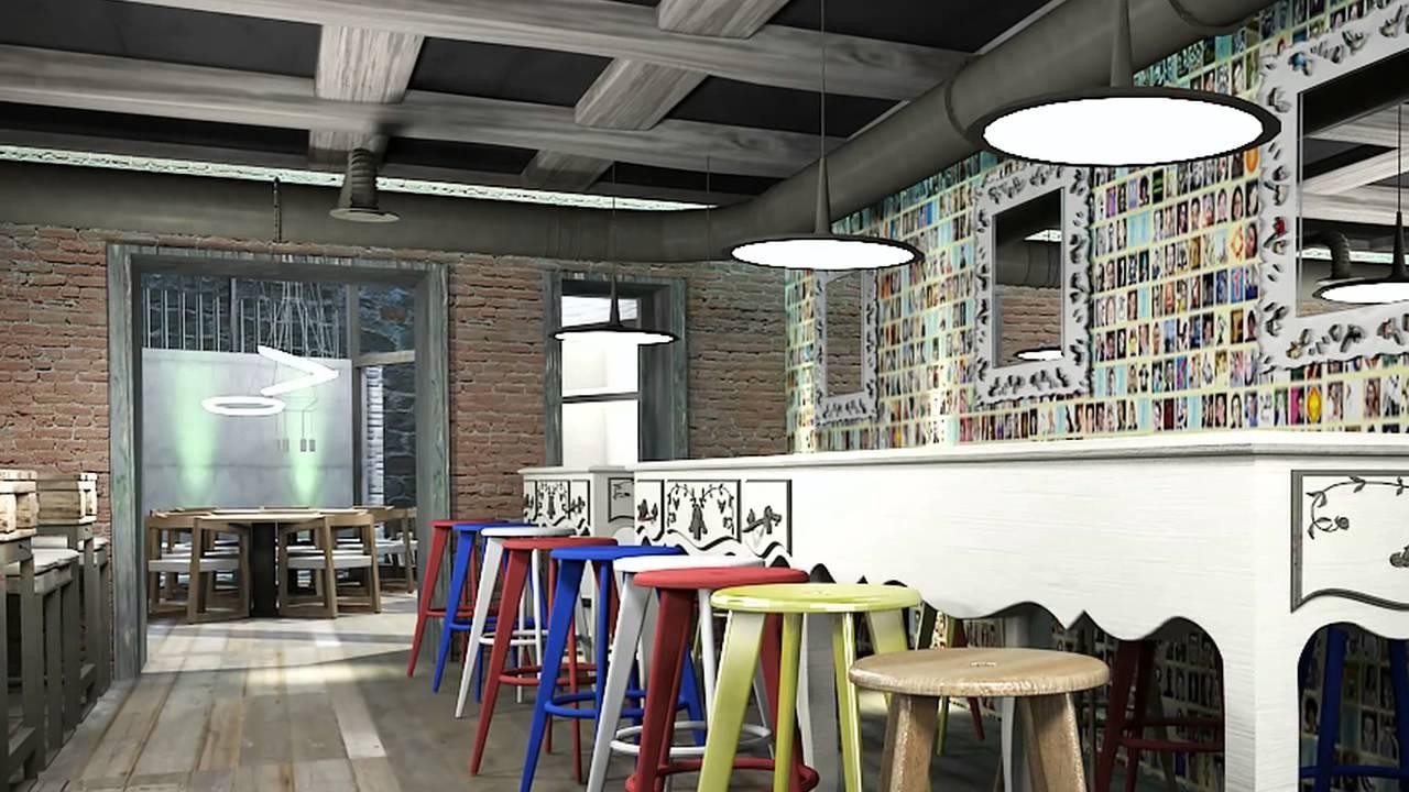 Dise o interior proyecto 3d para una vinoteca youtube - Diseno de vinotecas ...