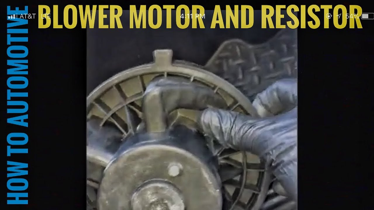 medium resolution of how to replace the blower motor and fan resistor on a 2010 chevy 1500