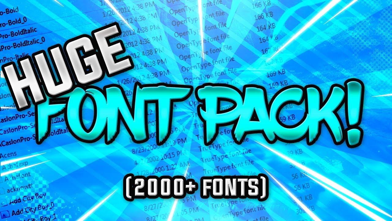 Download HUGE FONT PACK FOR FREE! (2000+ Fonts) - YouTube