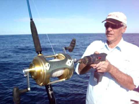 deepwater reel test, power drill winding