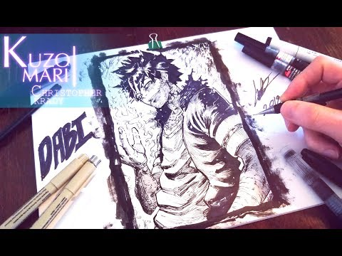 Speed Drawing DABI ( My Hero Academia ) Villain - Anime Manga Style - [ 僕のヒーローアカデミア ]