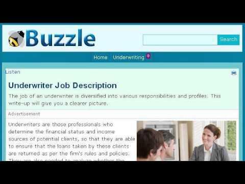 Commercial Underwriter Job Description
