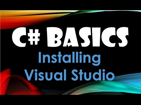 3. (C# Basics Beginner Tutorial) Downloading And Installing Visual Studio 2015