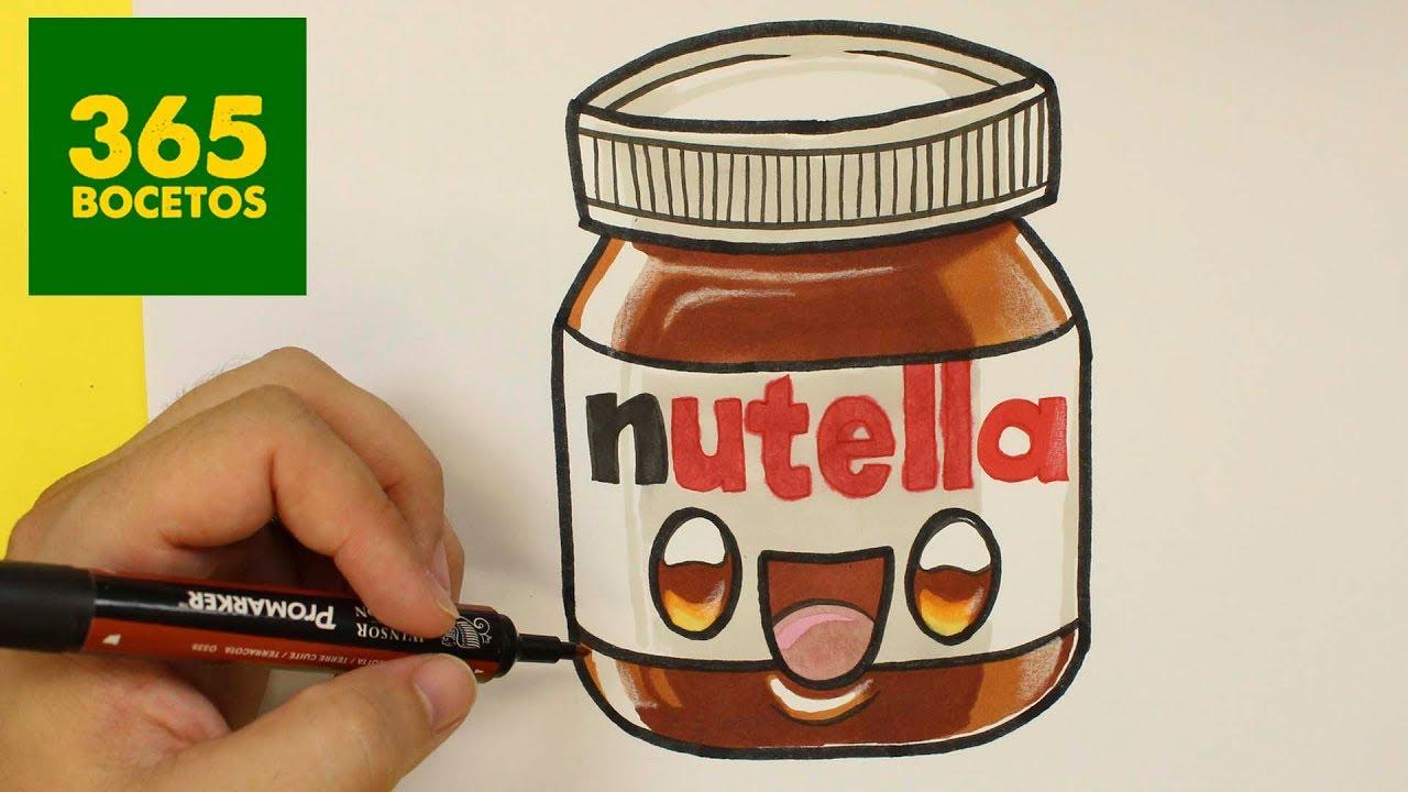 Como Dibujar Un Bote De Nutella Kawaii Paso A Paso Dibujos Kawaii