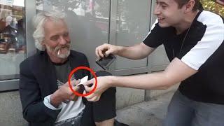 Geld für Obdachlose zaubern 😢 | Best of FabianMagic