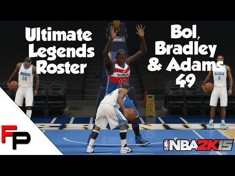 NBA 2K15 - Manute Bol, Shawn Bradley & Michael Adams  - Ultimate Legends Roster #49