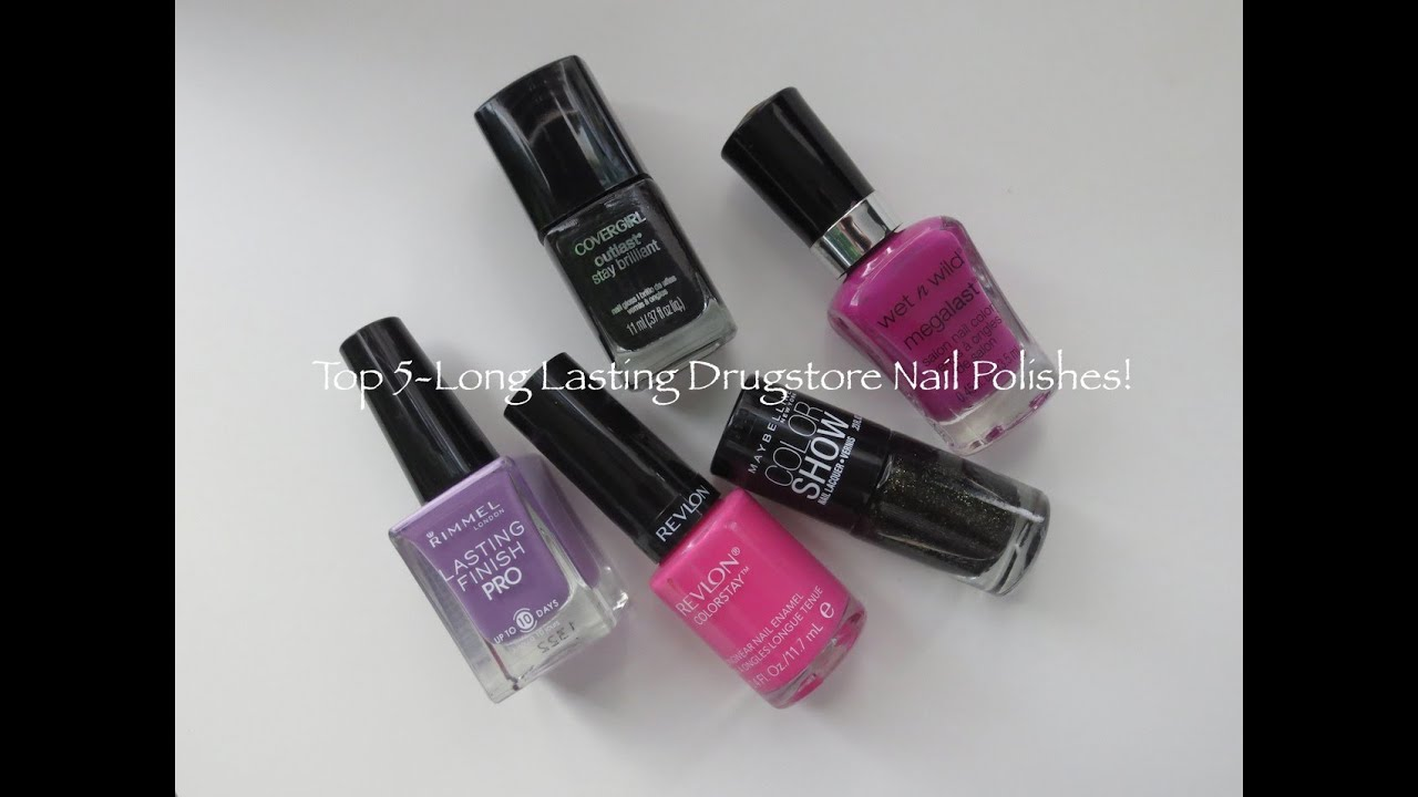 Top 5: Long Lasting Drugstore Nail Polishes - YouTube