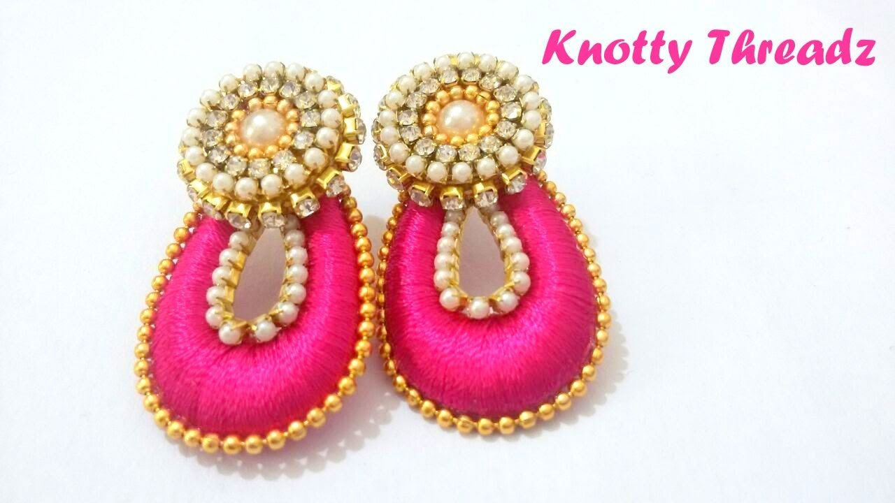 khushi handicrafts products silk earrings online handcrafted buy chandbali