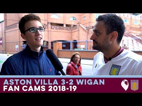 FAN CAMS 2018/19 | Aston Villa 3-2 Wigan Athletic