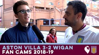 FAN CAMS 2018/19 | Aston Villa 3-2 Wigan Athletic