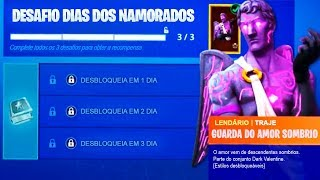 How to get the new free Skin guard of the dark love of the challenges Valentine's Day at Fortnite..!