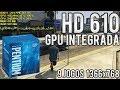 Teste GPU integrada HD 610 do Pentium G4560 - CSGO, DOTA 2, Overwatch, GTA 5, PUBG, BF4, ETS 2...