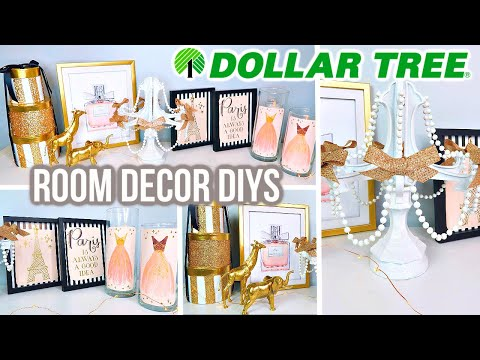 DOLLAR TREE DIY ROOM DECOR | PARIS THEME