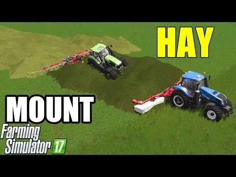 Farming Simulator 17   GRASS MOUNT = HAY MOUNT !!! Amazing !!!