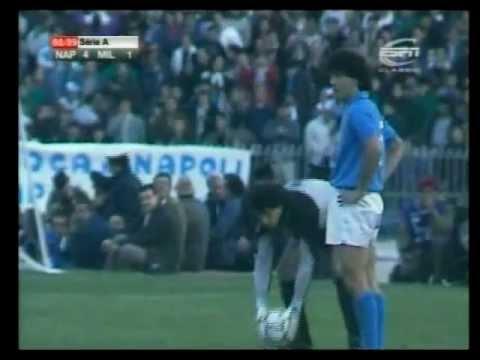 Napoli Milan 4-1, serie A 1988-89, full match.
