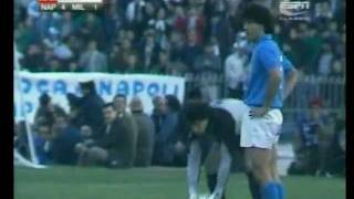 Napoli Milan 4-1, serie A 1988-89, full match.