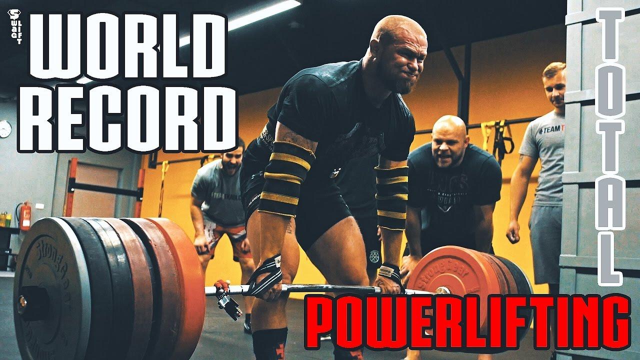 POWERLIFTING TOTAL in 60 seconds / World Record - Jiří Tkadlčík