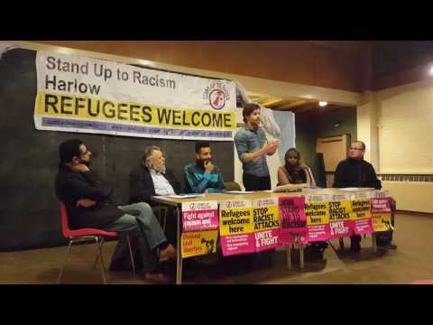 Regional Secretary, Riccardo la Torre, speaking at Stand Up To Racism Rally- Harlow 17/11/16