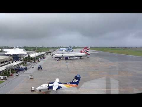 Grantley Adams International Airport ATC View!!!!! (Air Canada A319)