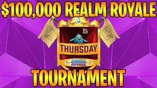 $100,000 REALM ROYALE TOURNAMENT (Round 1/10 - Currently Tied For 1st)