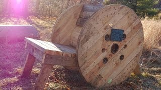 Free Wooden Spool Adirondack Chair- Plus Two Others (tiny Cabins Too!)