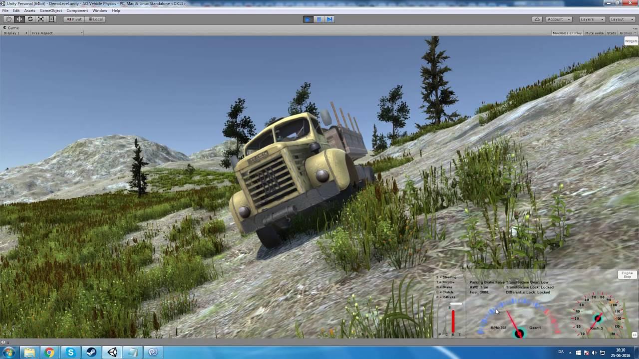 Unity Realistic Vehicle Physics - 25-06-2016 Part 1/2