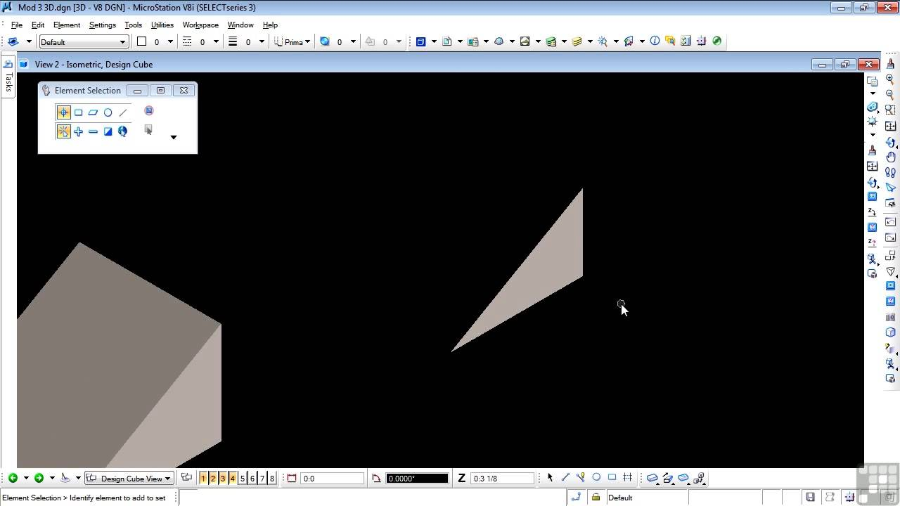 Bentley MicroStation V8i 3D Tutorial   Sloping Faces And Exercises