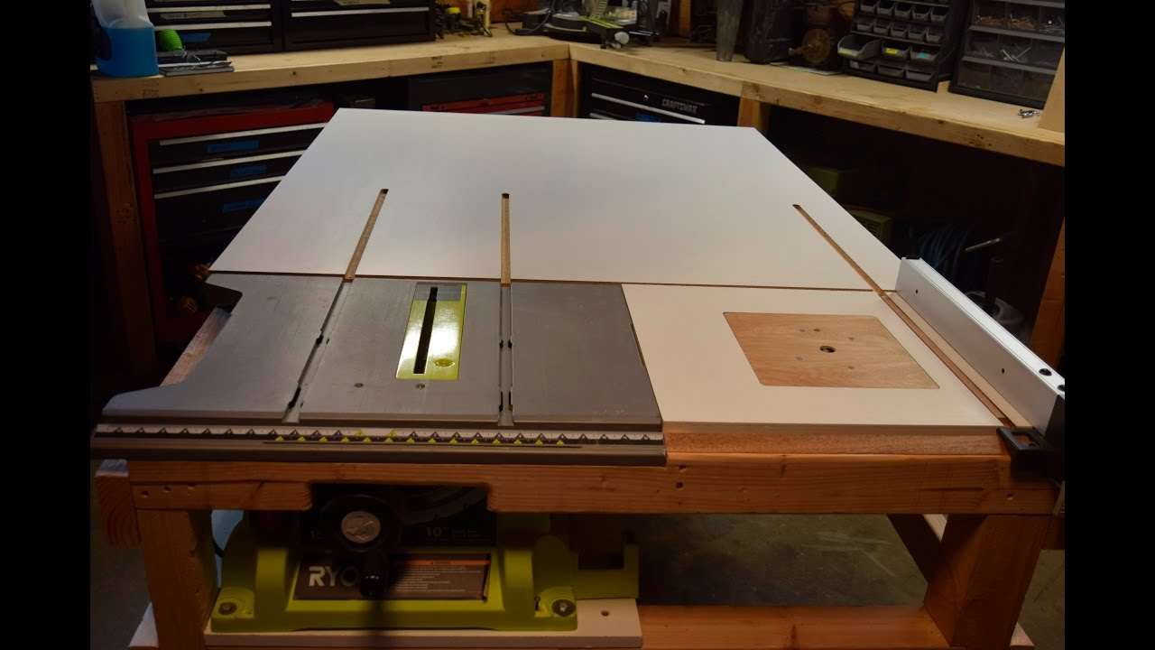 How to build a homemade table saw extension with a router for How to make a router table