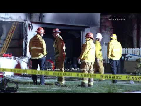 Body Found During House Fire / Van Nuys   RAW FOOTAGE