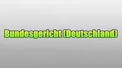 Bundesgericht (Deutschland)