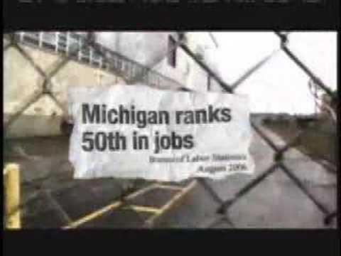 Jennifer Granholm Job Losses TV Ad