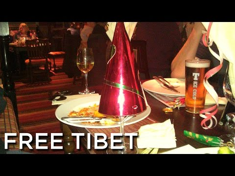 2010-12-11 'Free Tibet @ The 1st Annual Is That Uday Hussein At The Omelette Bar? Christmas Meal!'