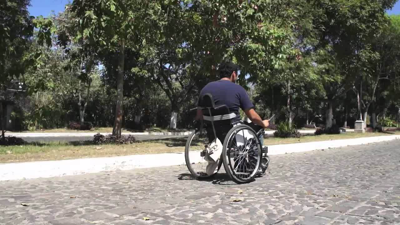 Leveraged Freedom Chair leveraged freedom chair - lever powered wheelchair - youtube