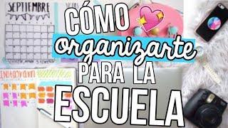 TIPS + DIYs PARA ORGANIZARTE EN LA ESCUELA! | Michmoon