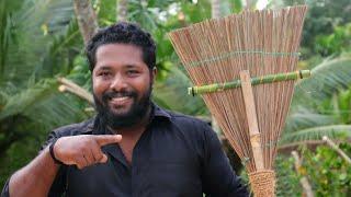How to make broom | തെങ്ങിന്റെ ഓലകൊണ്ട് അടിപൊളി ചൂലുണ്ടാക്കാം | Tech | Malayalam