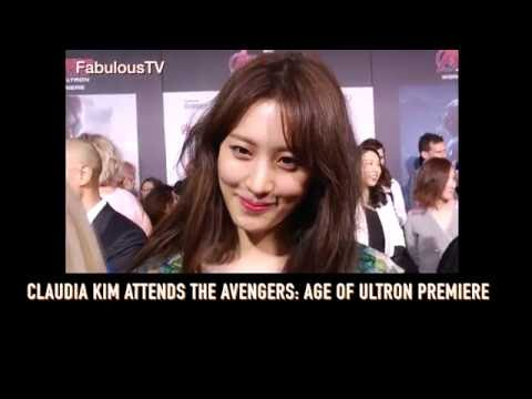 Claudia Kim attends the Avengers: Age Of Ultron premiere on Fabulous TV