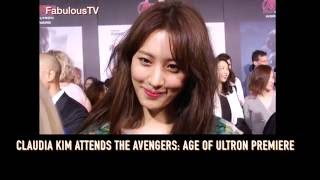 claudia kim attends the avengers age of ultron premiere on fabulous tv