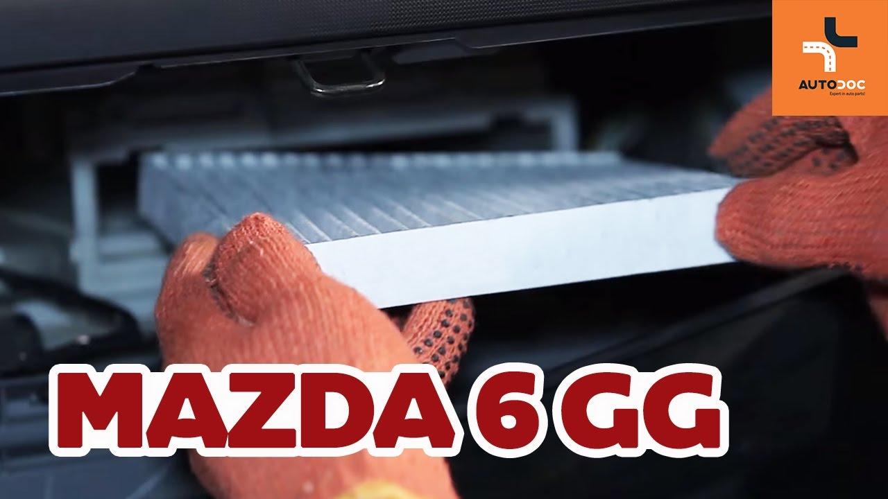 Wymiana Filtr Kabinowy Mazda 6 Gy Tutorial Autodoc Youtube