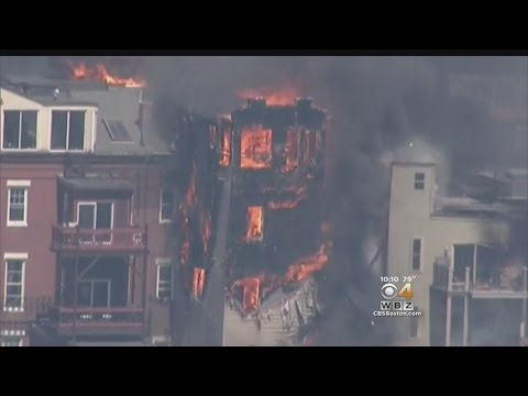 Massive Fire Destroys Condo Building In Charlestown