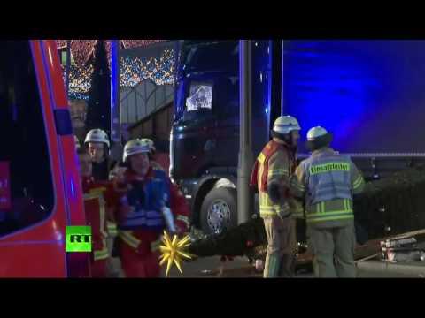 Berlin: images du marché de Noël traversé par un camion fou (Direct du 20.12)